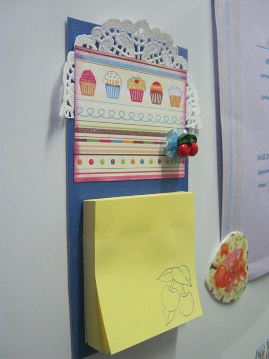 Блокнот магнит на холодильник своими руками
